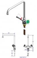 Кран для подвода воды мод.11081