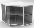 Шкаф навесной угловой. ЭПМ ШН-3-0