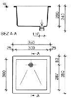 Мойка полипропиленовая SNK 0332