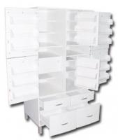 Шкаф ШМФ-01, мод. 5, класса В - для фармпрепаратов с пластиковыми фасадами и ящиком