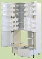 Шкаф ШМФ-01, мод. 9, класса В для фармпрепаратов с отделениями для сейфа и холодильника